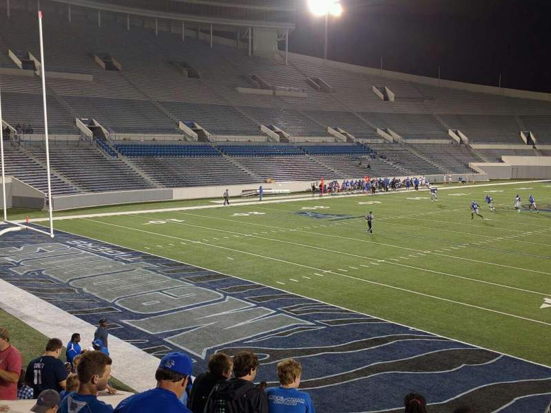 Seating view for Liberty Bowl Memorial Stadium Section 111 Row 20 Seat 01