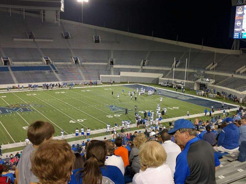 Seating view for Liberty Bowl Memorial Stadium Section 105 Row 20 Seat 10