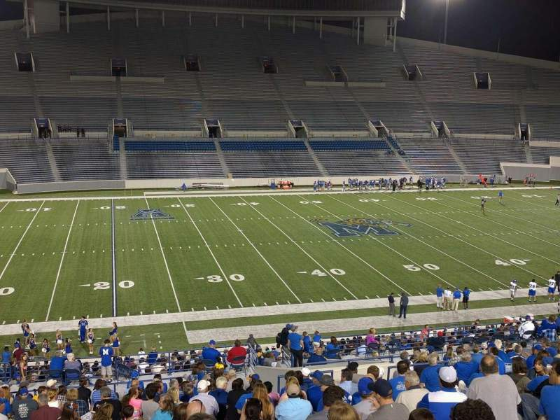 Seating view for Liberty Bowl Memorial Stadium Section 106 Row 50 Seat 10