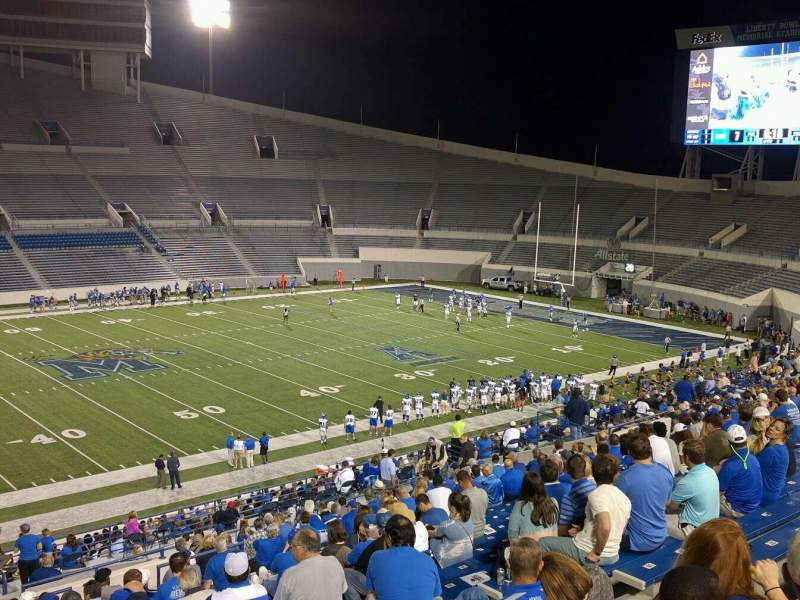 Seating view for Liberty Bowl Memorial Stadium Section 106 Row 20 Seat 10
