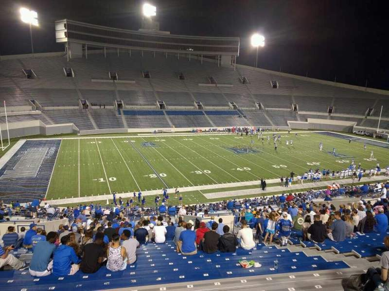 Seating view for Liberty Bowl Memorial Stadium Section 107 Row 50 Seat 10