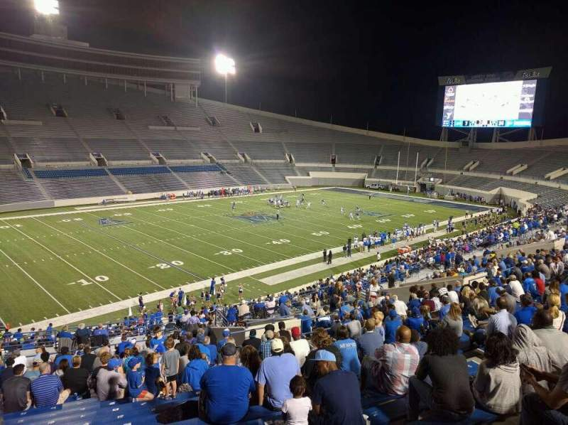 Seating view for Liberty Bowl Memorial Stadium Section 108 Row 50 Seat 10