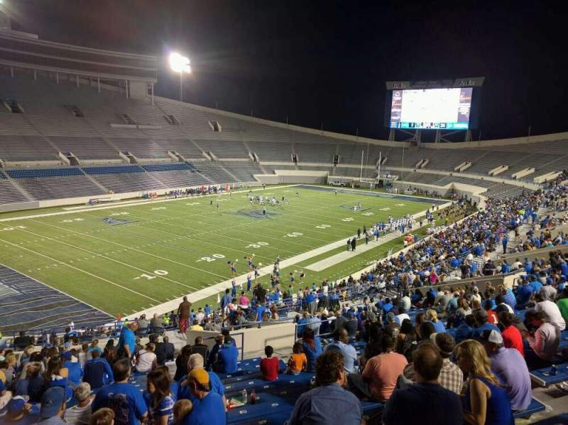 Seating view for Liberty Bowl Memorial Stadium Section 109 Row 50 Seat 10