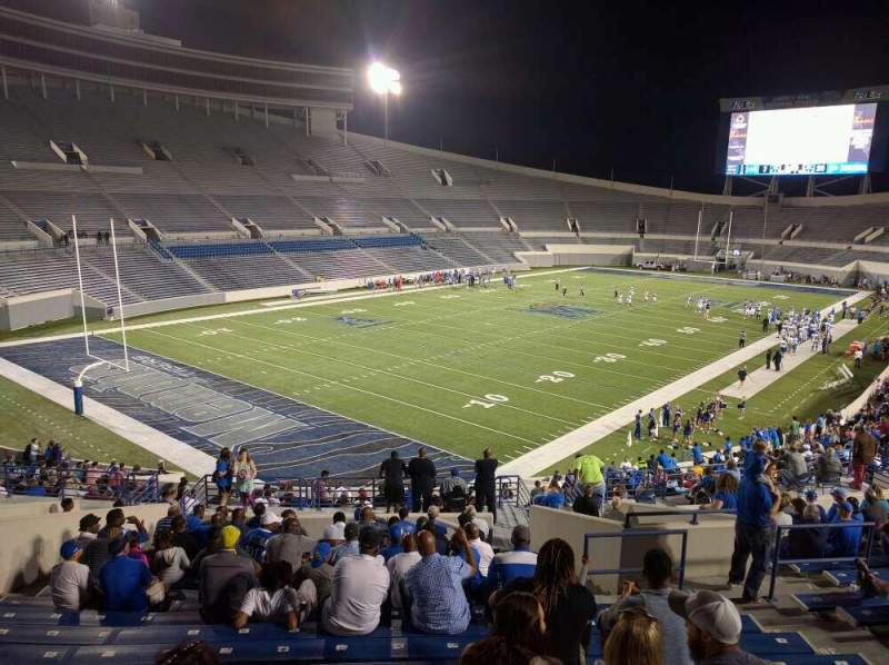 Seating view for Liberty Bowl Memorial Stadium Section 110 Row 50 Seat 10