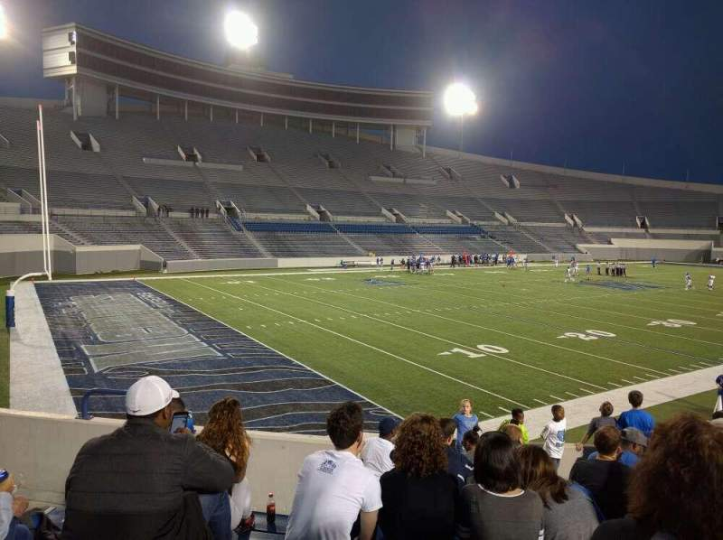 Seating view for Liberty Bowl Memorial Stadium Section 111 Row 50 Seat 10