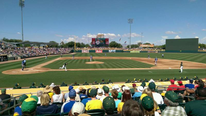 Seating view for HoHoKam Stadium Section 113 Row 4 Seat 14