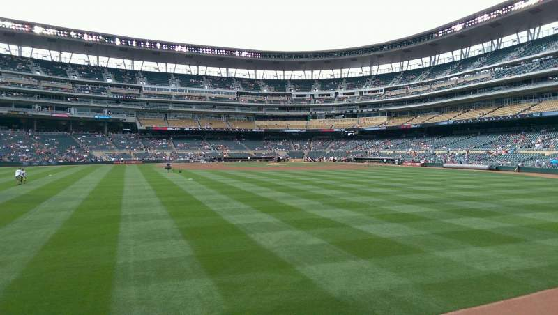 Seating view for Target Field Section 131 Row 1 Seat 5