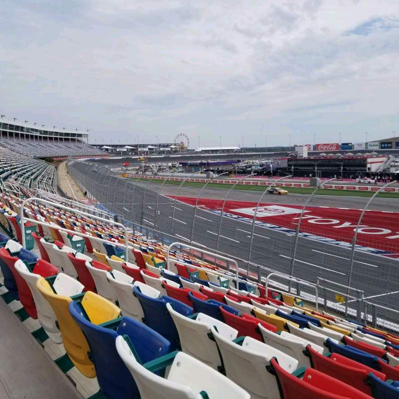 Seating view for Charlotte Motor Speedway Section A Row 15 Seat 28
