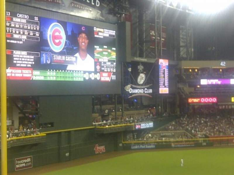 Seating view for Chase Field Section 220 Row 11 Seat 1