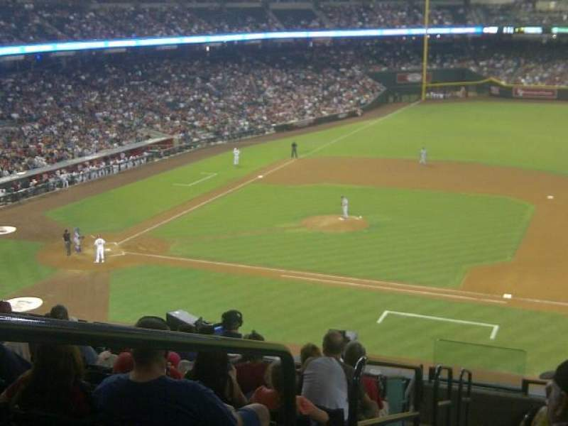 Seating view for Chase Field Section 208 Row 11 Seat 1