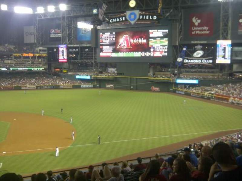 Seating view for Chase Field Section 207 Row 11 Seat 18