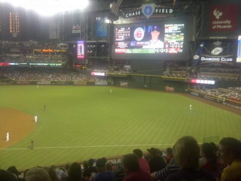 Seating view for Chase Field Section 205 Row 11 Seat 18