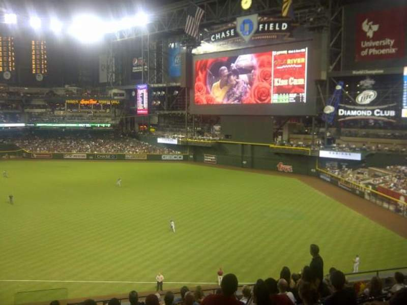 Seating view for Chase Field Section 203 Row 11 Seat 18