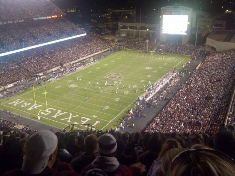 Seating view for Kyle Field Section 501 Row 26 Seat 9