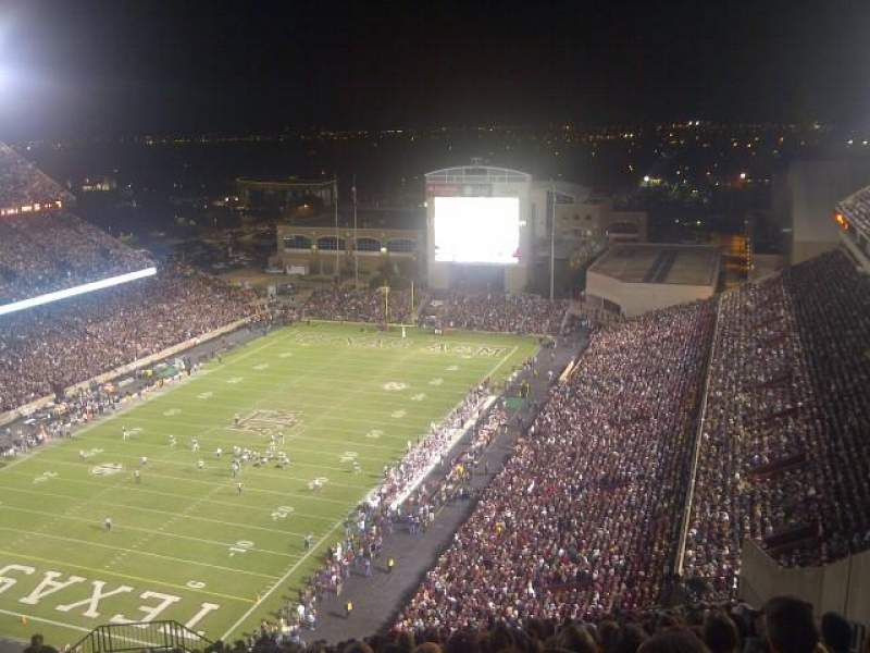 Seating view for Kyle Field Section 501 Row 26 Seat 8