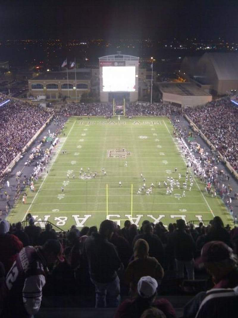 Seating view for Kyle Field Section 513 Row 26 Seat 10
