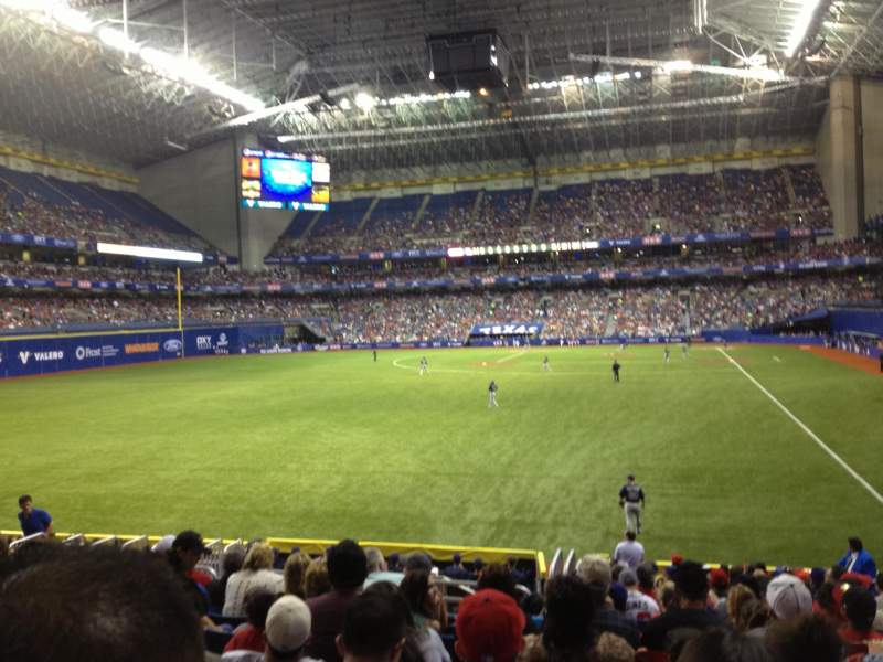 Seating view for Alamodome Section 121 Row 17 Seat 4