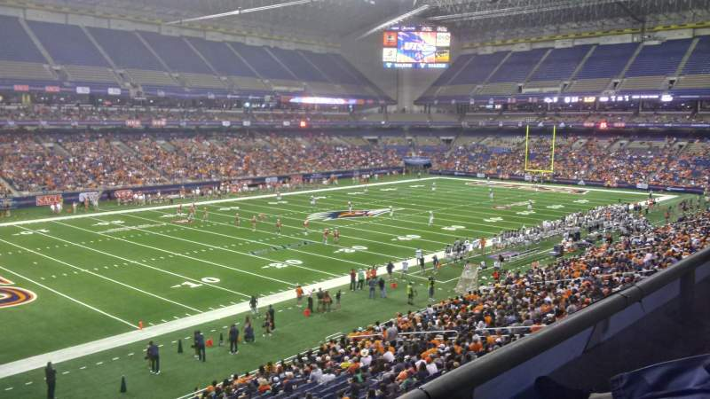 Seating view for Alamodome Section 217 Row 1 Seat 18