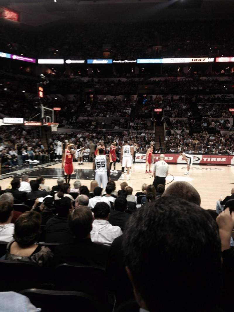 Seating view for AT&T Center Section 24 Row 10 Seat 2