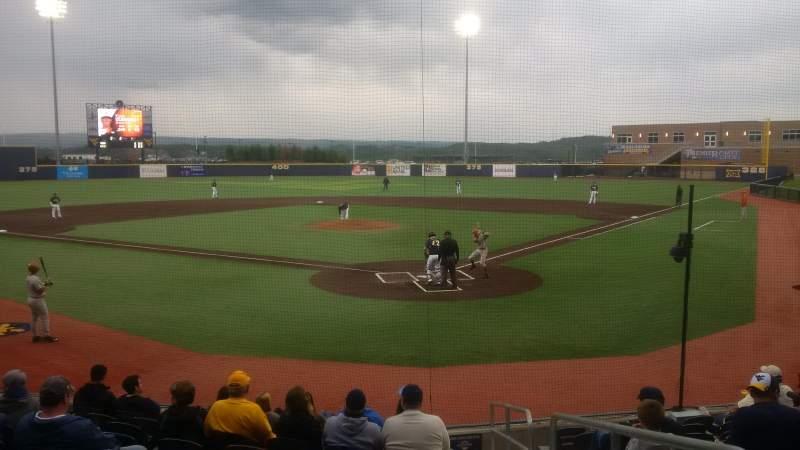 Seating view for Monongalia County Ballpark Section 104 Row J Seat 17
