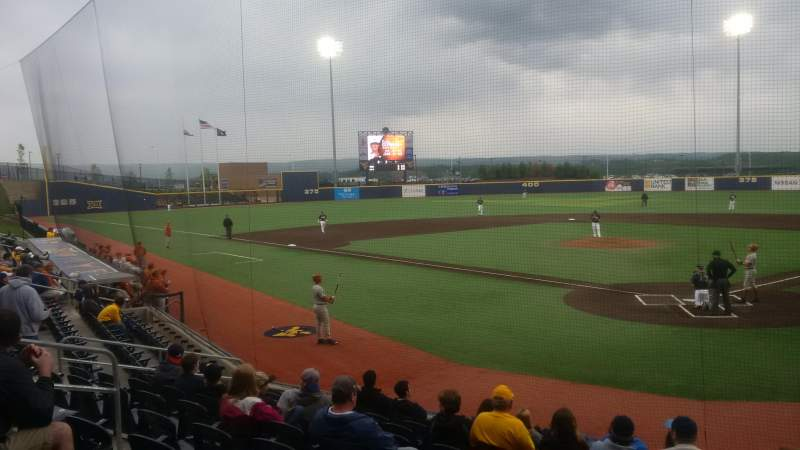 Seating view for Monongalia County Ballpark Section 104 Row J Seat 17