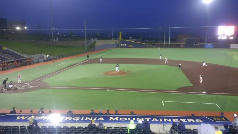 Seating view for Monongalia County Ballpark Section 108 Row R Seat 24