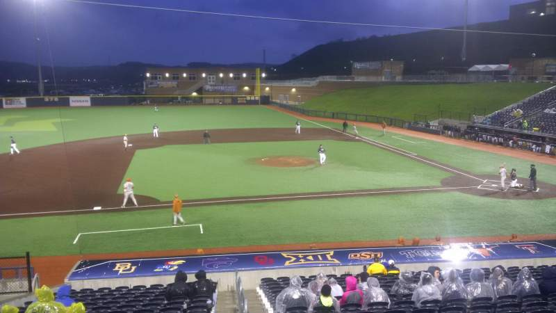 Seating view for Monongalia County Ballpark Section 102 Row R Seat 1