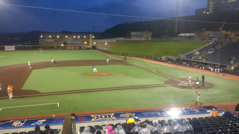 Seating view for Monongalia County Ballpark Section 102 Row 2 Seat 1