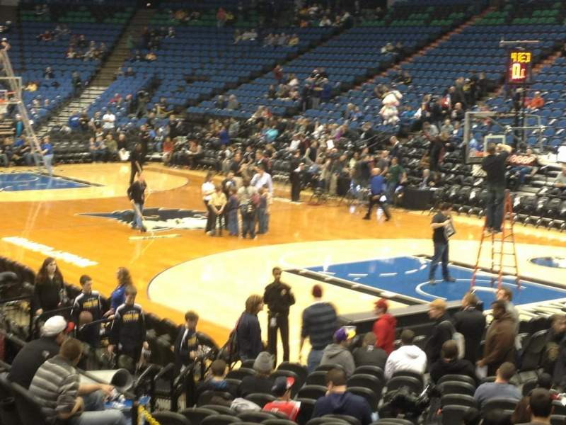 Seating view for Target Center Section 126 Row j Seat 6