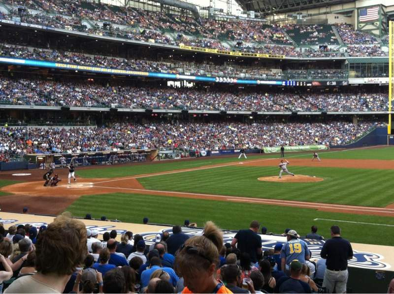 Seating view for Miller Park Section 112 Row 18 Seat 2