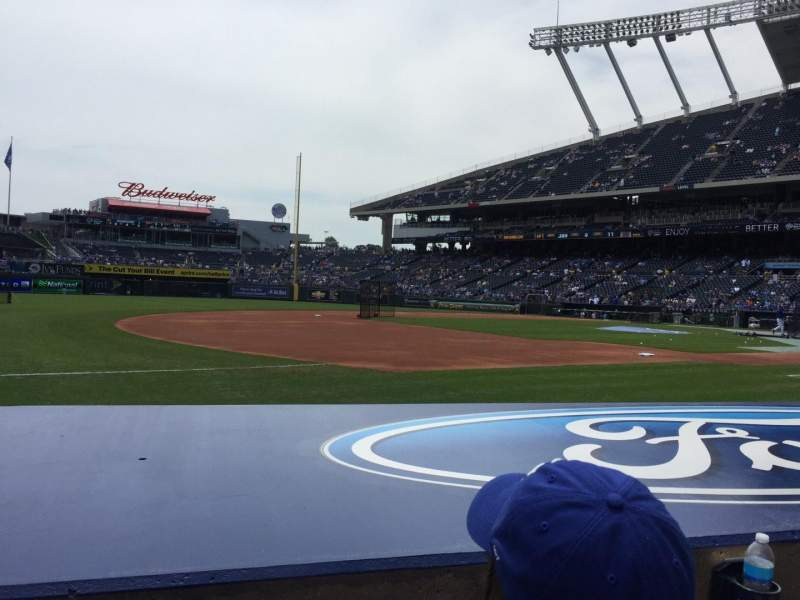 Seating view for Kauffman Stadium Section 116 Row B Seat 7