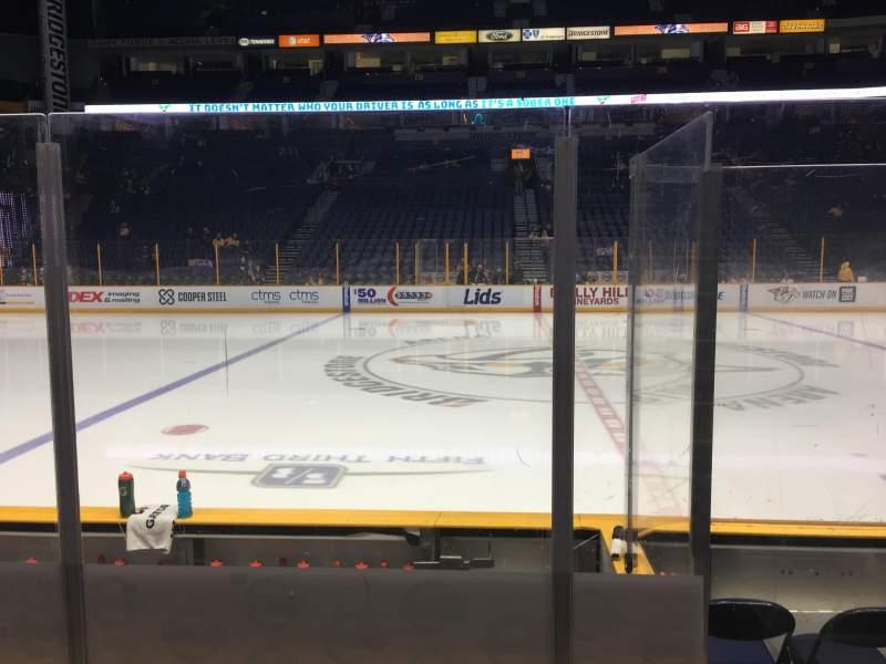 Bridgestone Arena, section: 115, row: EE, seat: 1