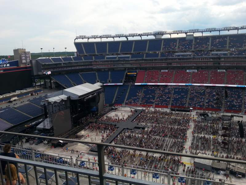 Seating view for Gillette Stadium Section 309 Row 9 Seat 5