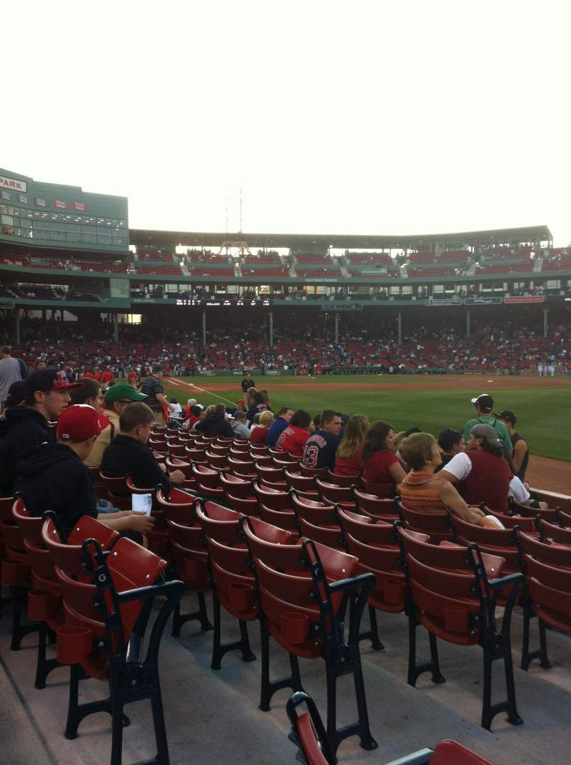 Seating view for Fenway Park Section Right Field Box 6 Row H Seat 14