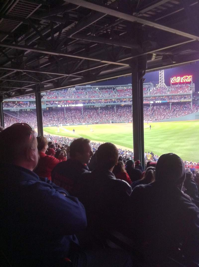 Seating view for Fenway Park Section Grandstand 5 Row 12 Seat 17