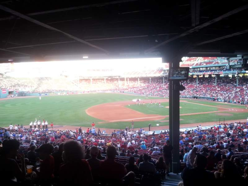 Seating view for Fenway Park Section Grandstand 28 Row 14 Seat 13