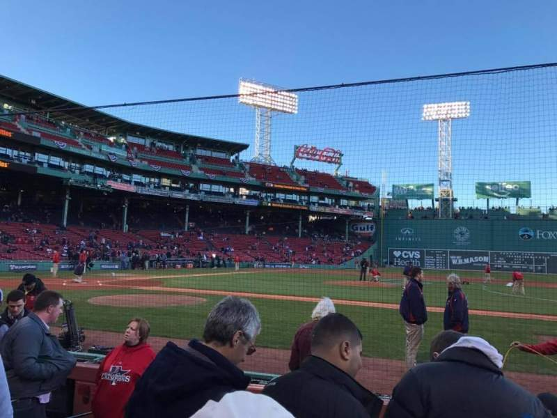 Seating view for Fenway Park Section Field Box 29 Row C Seat 4