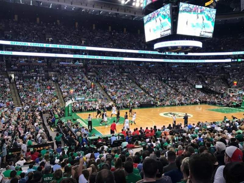 Seating view for TD Garden Section Loge 3 Row 15W Seat 9