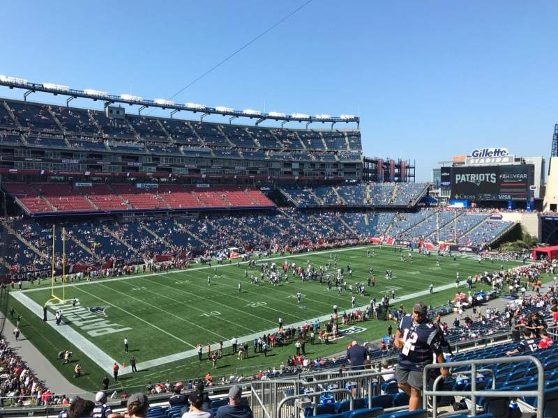 Seating view for Gillette Stadium Section 215 Row 16 Seat 6