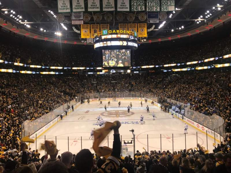 Seating view for TD Garden Section Loge 7 Row 22 Seat 2