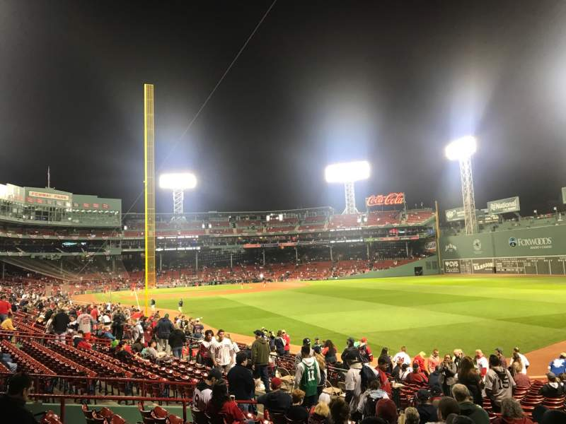 Seating view for Fenway Park Section Right Field Box 90 Row RR Seat 17