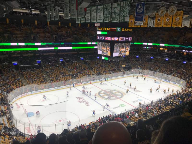 Seating view for TD Garden Section Bal 304 Row 10 Seat 15