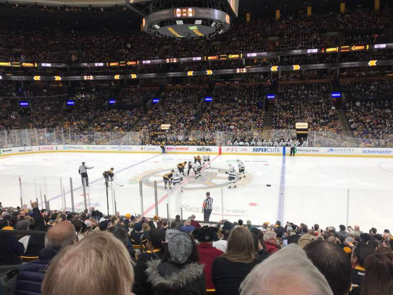 Seating view for TD Garden Section Loge 11 Row 17 Seat 11