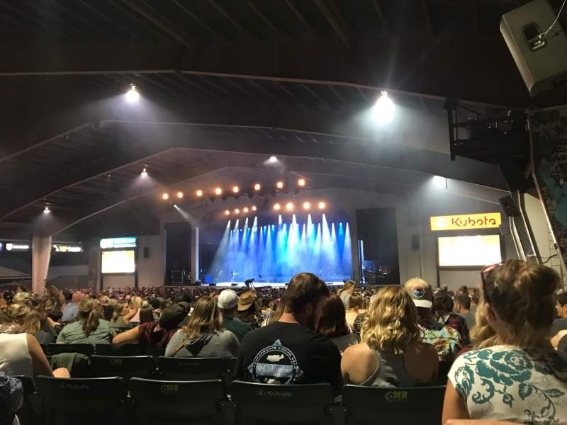 Seating view for Bank of New Hampshire Pavilion Section 2C Row 22 Seat 17