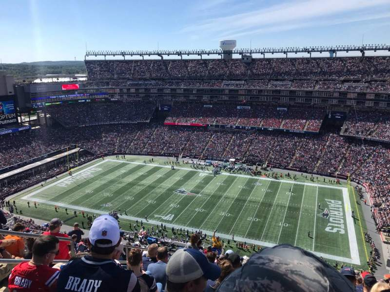 Seating view for Gillette Stadium Section 306 Row 24 Seat 21