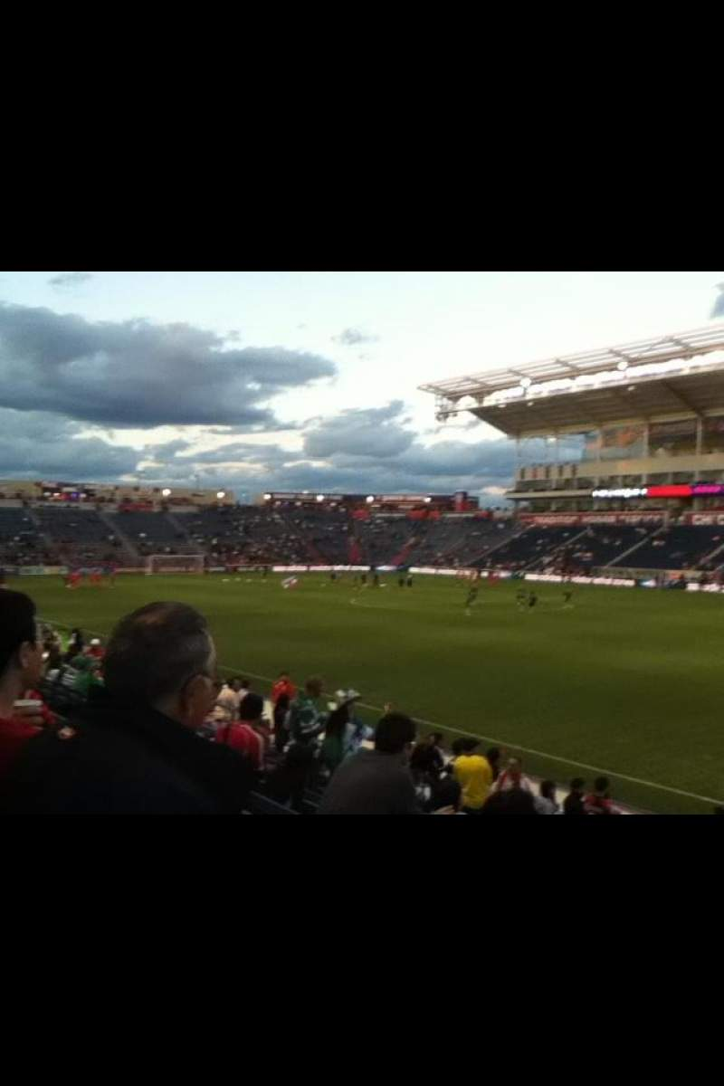Seating view for Toyota Park Section 103 Row 13 Seat 1