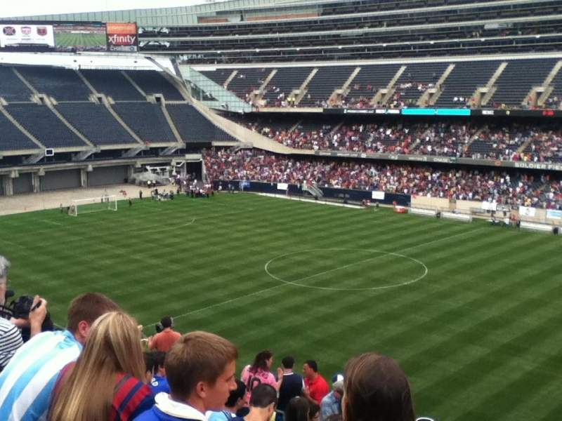 Seating view for Soldier Field Section 332 Row 12 Seat 8