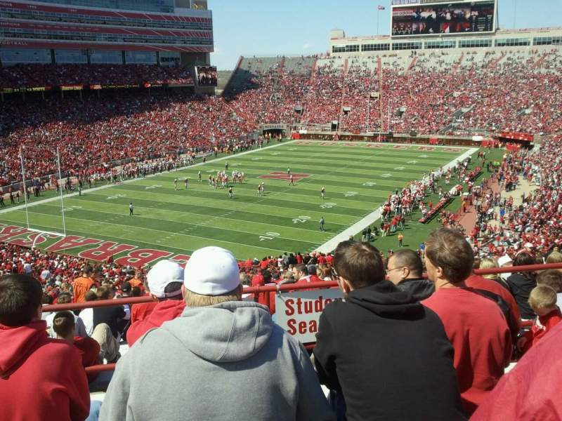 Seating view for Memorial Stadium (Lincoln) Section 12 Row 73 Seat 12