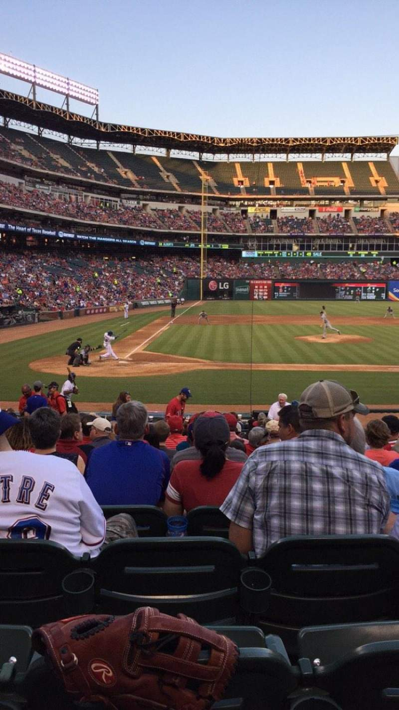 Seating view for Globe Life Park in Arlington Section 31 Row 15 Seat 6