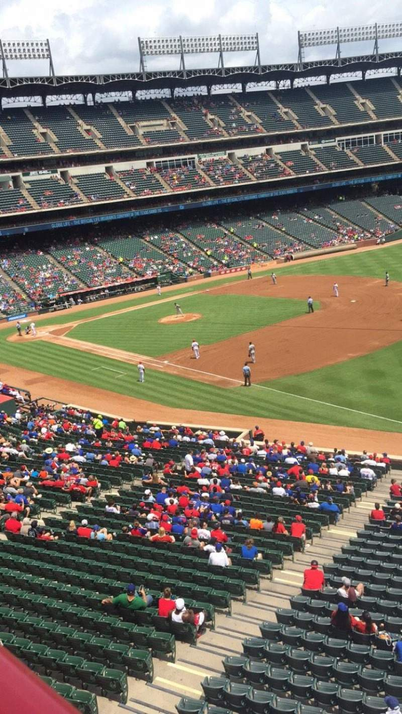 Seating view for Globe Life Park in Arlington Section 238 Row 1 Seat 9